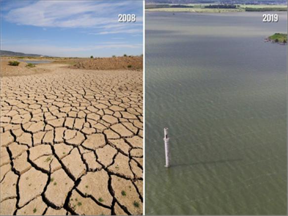 21 aylık su 3 ayda geldi  Tahtalı'da bahar bereketi