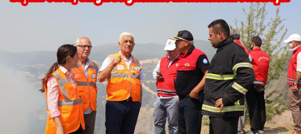 Başkan Gürün, Yangın Bölgelerinde İncelemelerini Sürdürüyor