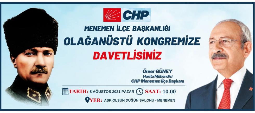 CHP Menemen İlçe Olağanüstü Kongresi'nde Dört Aday!