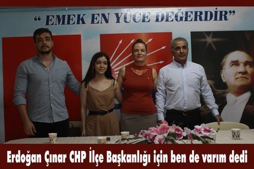 Erdoğan Çınar CHP Menemen İlçe Başkan Adaylığını açıkladı