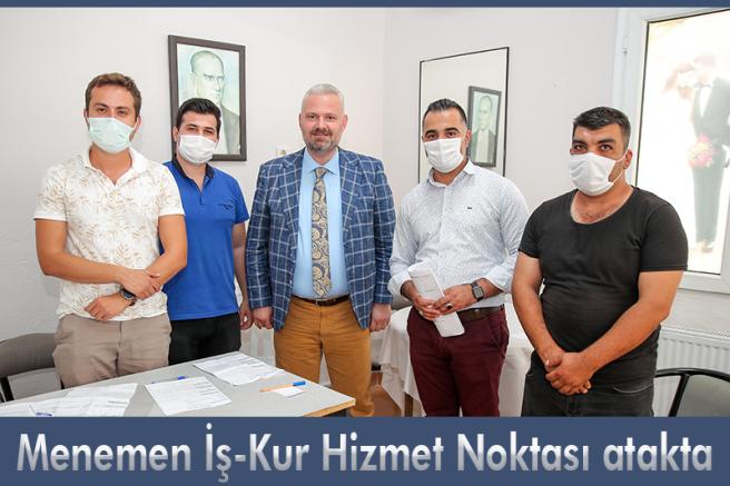 Menemen'den istihdam desteği  Menemen İş-Kur Hizmet Noktası atakta